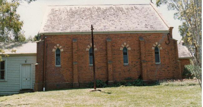 Presbyterian Church Eltham Yarra Glen Rd Colour 3 - Shire of Eltham Heritage Study 1992