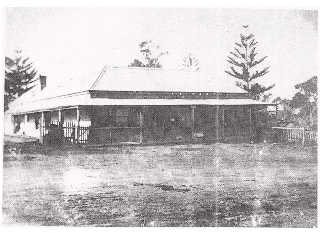 Kangaroo Ground General Store Post Office Pines Black & White 1 - Shire of Eltham Heritage Study 1992