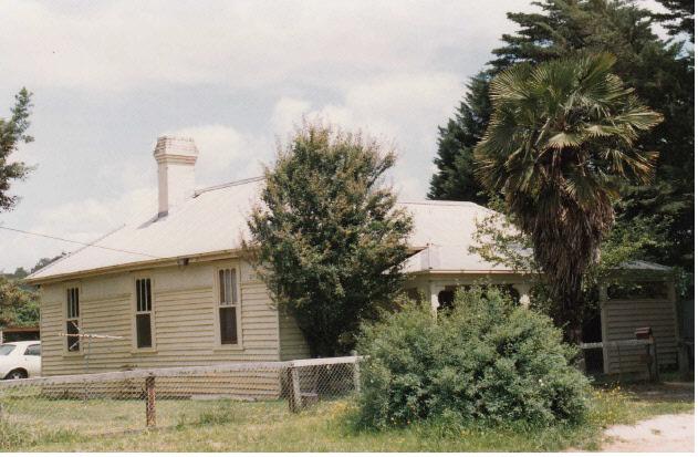 Railways Residence Palm Cypress Trees Hurstbridge Colour 2 - Shire of Eltham Heritage Study 1992