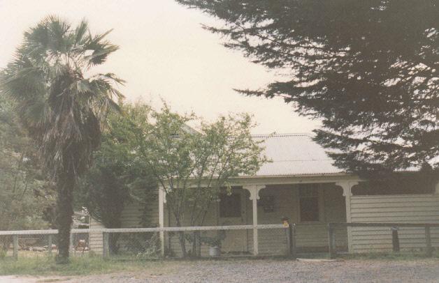 Railways Residence Palm Cypress Trees Hurstbridge Colour 3 - Shire of Eltham Heritage Study 1992