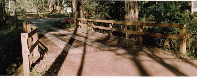 Timber Trestle Bridge Arthurs Creek Eagles Nest Rd Colour 4 - Shire of Eltham Heritage Study 1992