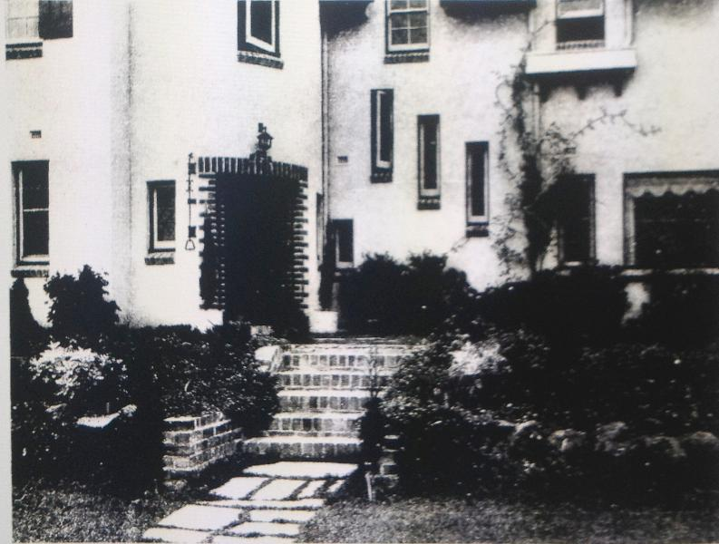 Front entrance to 219 Kooyong Road, c1934.