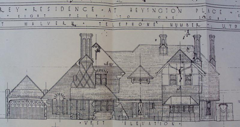 Extract of c1932 drawings by A M McMillian