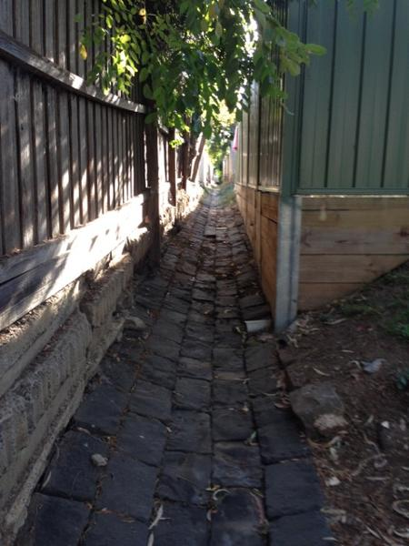 Bluestone drain Brisbane St and Ormond Rd