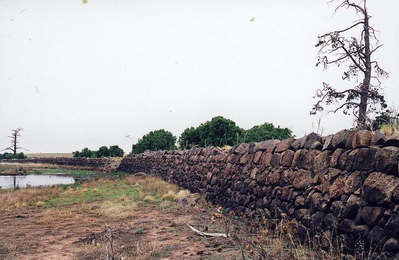 Dry Stone Wall N238 - Rockbank Headstation Dam Wall