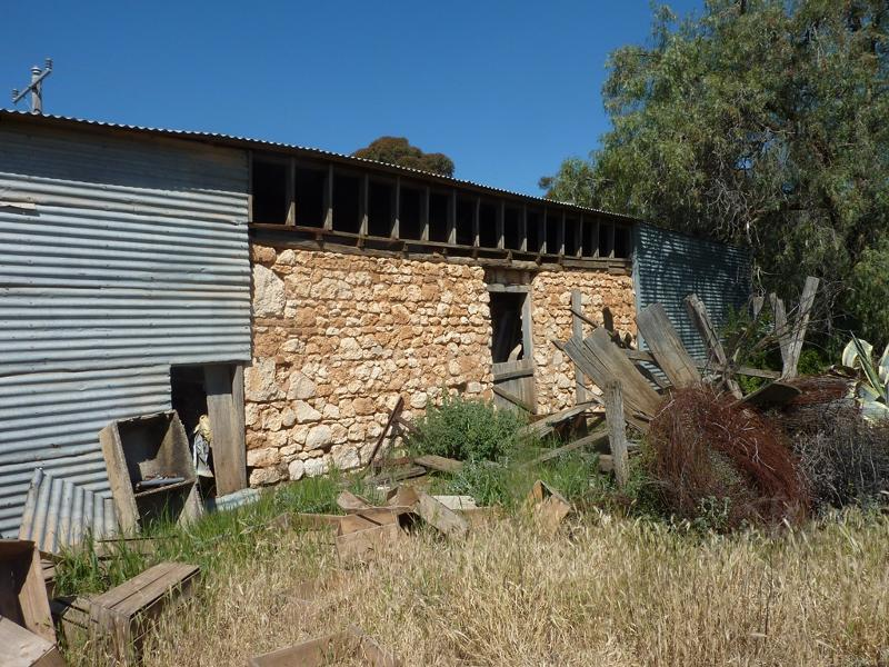 limestone wall in shed Sept 2015.JPG