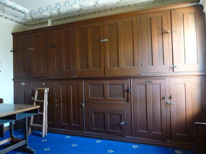 Sandringham_Masonic_Hall_cupboards_upper_foyer.JPG