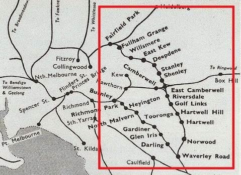 A diagram of the Outer Circle Railway Line with the Chandler Highway Bridge denoted.jpg