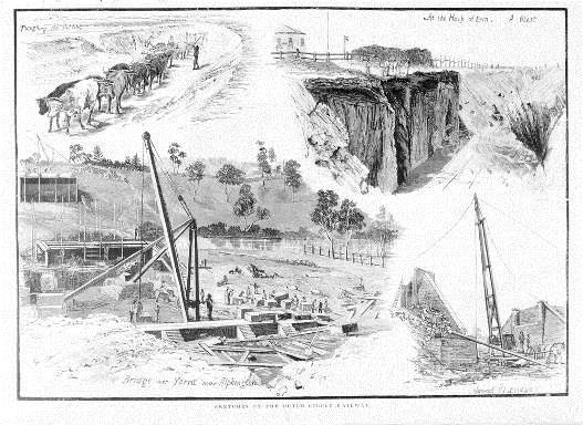 Sketches On The Outer Circle Railway, 'Bridge over the Yarra River at Alphington'.Melbourne: David Syme and Co. 1889.jpg