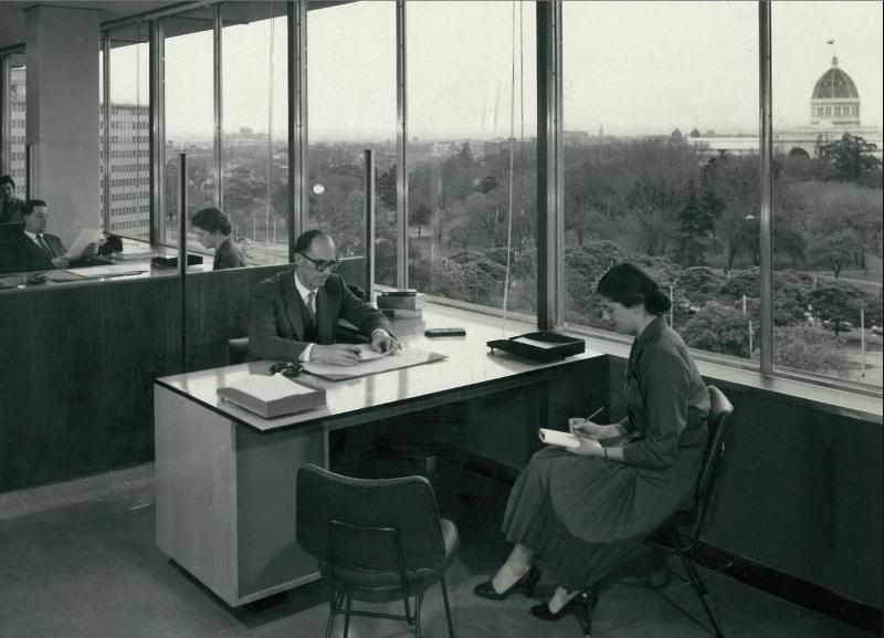 ICI House - An Interior Office 1958 Photo by Wolfgang Sievers.JPG