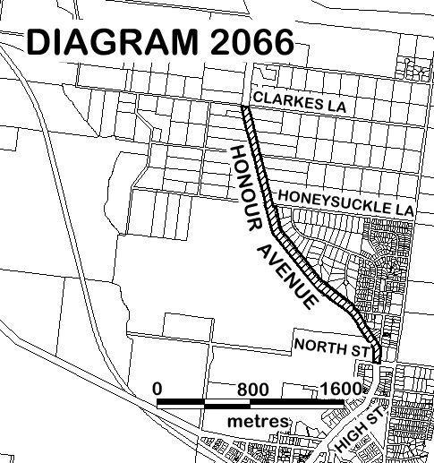 Woodend Avenue of Honour - DIAGRAM 2066 - Extent of Registration