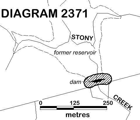 DIAGRAM 2371 - Lower Stony Creek Dam Extent in the VHR