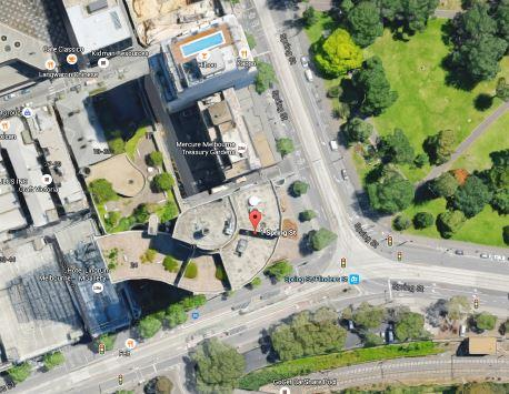 Aerial view of Shell House