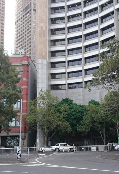 Views showing interfaces with adjacent Spring St building and Flinders St building