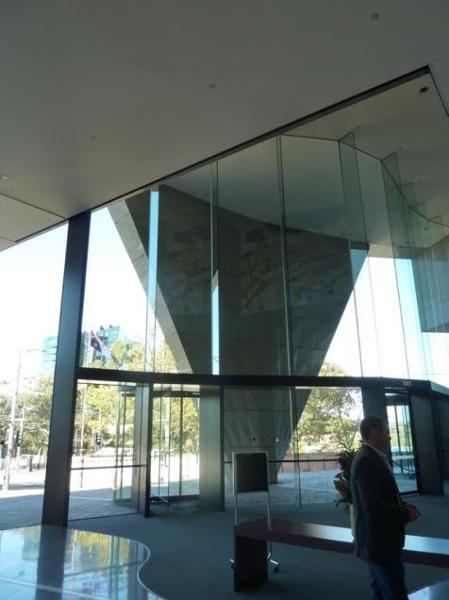 External plaza from main Spring Street foyer