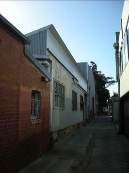 South elevation looking east towards St Georges Road from un-named laneway