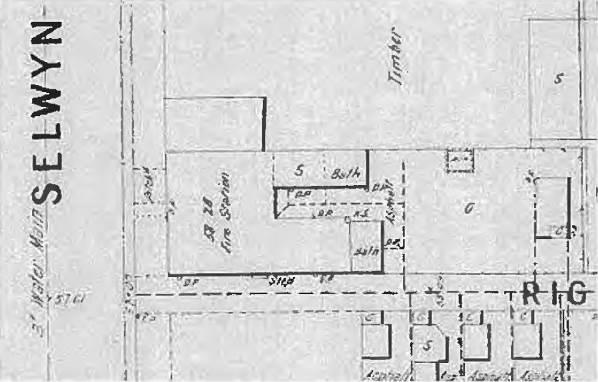 1902: M.M.B.W plan diagram of Elsternwick Fire Station