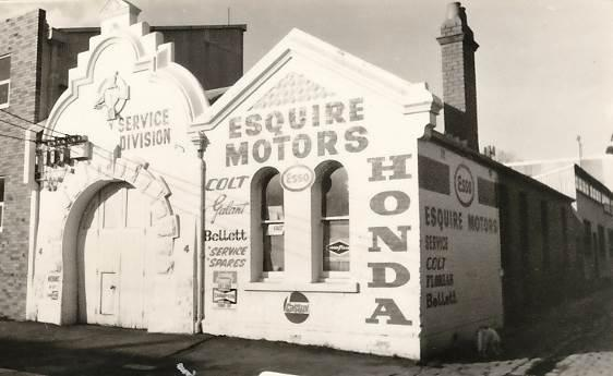1974: re-purposed as the Esquire Motors garage