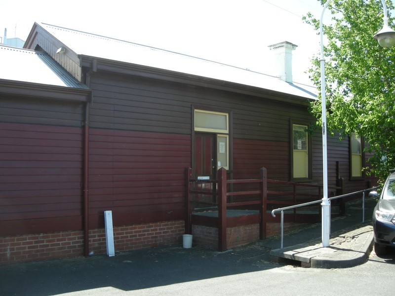 Southeast elevation of the Platform 1 building viewed from the carparking area