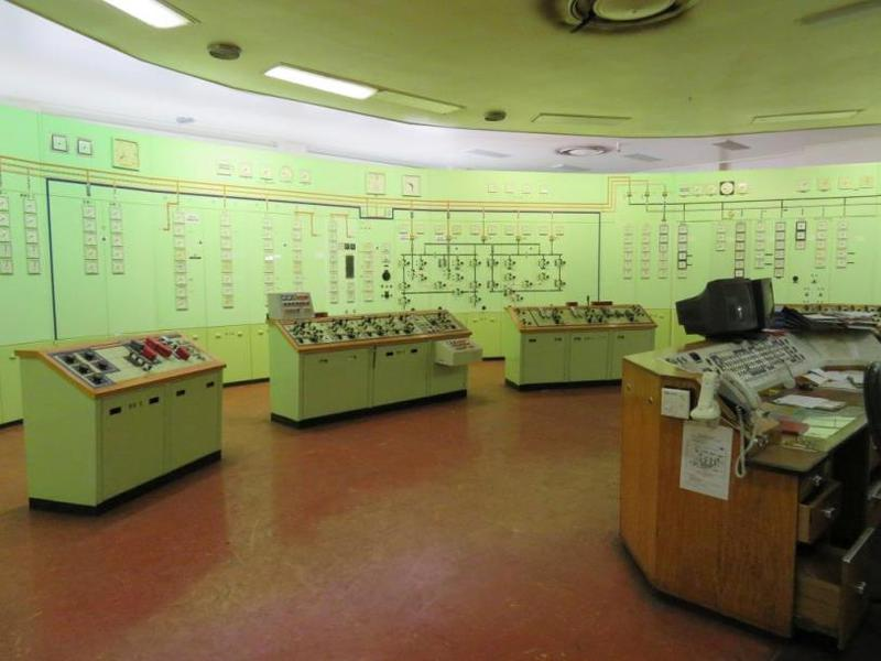 View inside the Power Station Control Room.