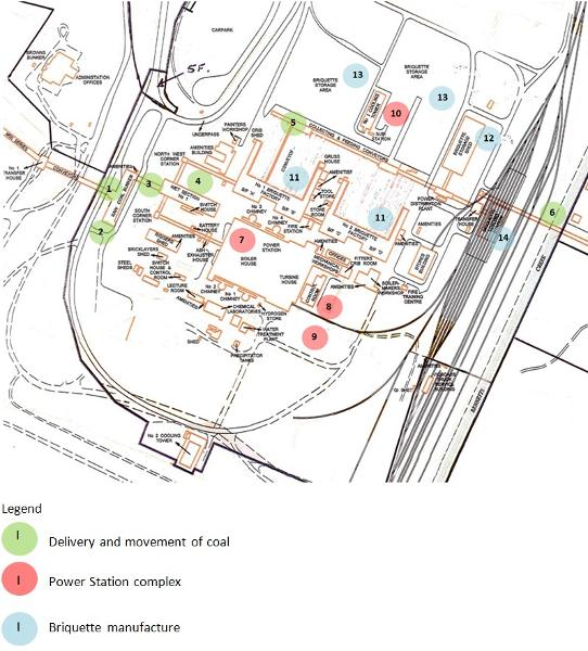 Site Map of Morwell Power Station Prepared 2017