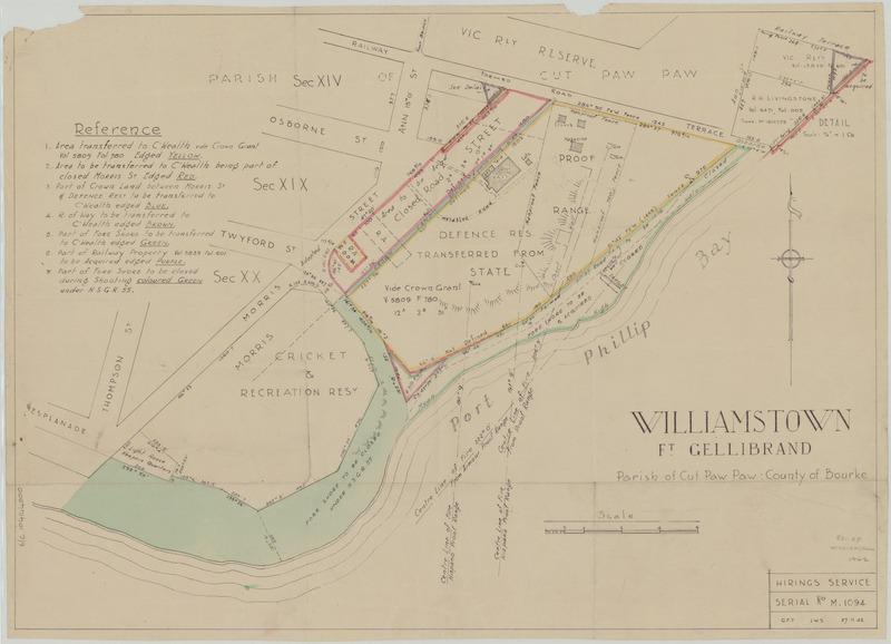 fort Gellibrand land transfer map