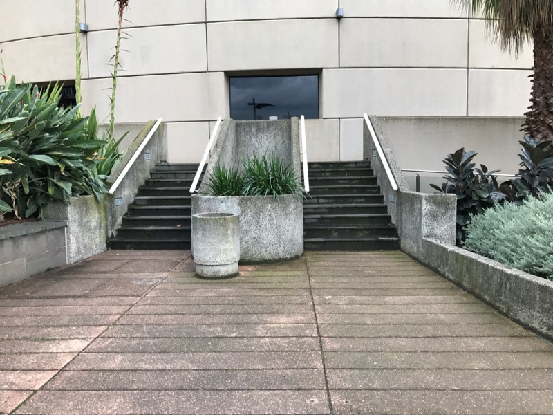 2017 stairs from Arts Centre Lawn to Hamer Hall.jpg