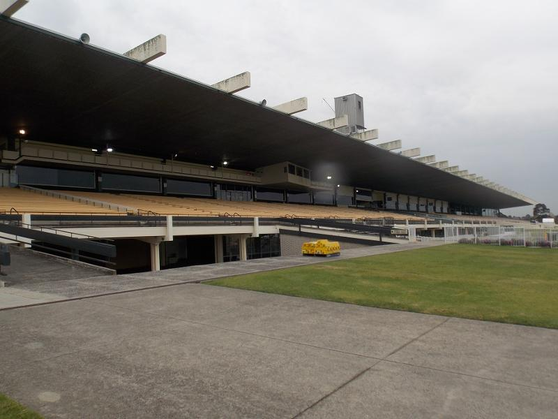 view of the grandstand from east (trackside), looking north-west.jpg