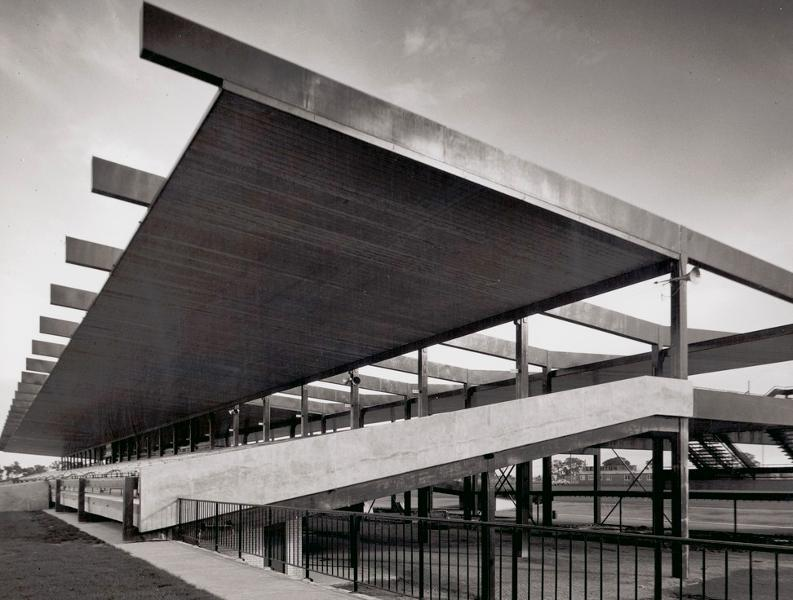 The grandstand as photographed by Wolfgang Sievers 1962.jpg
