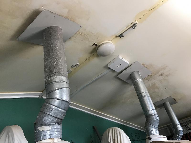 Memorial Hall Koroit, projector chimneys.JPG