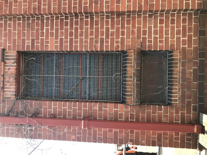 Tapestry brick and window grill