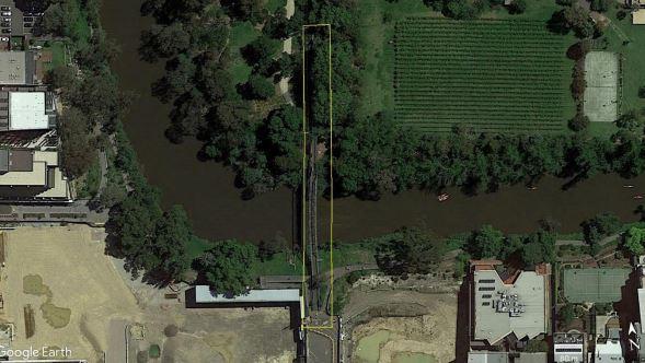 Walmer Street Bridge - Exent of registration - aerial