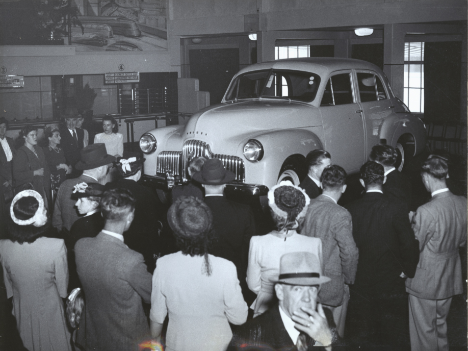 GMH FIshermans Bend - Social Centre during launch of Holden 48-215 - 1948
