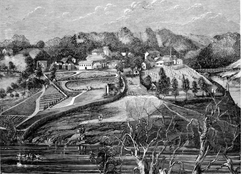 1868 - depiction of Yarra Bend Asylum