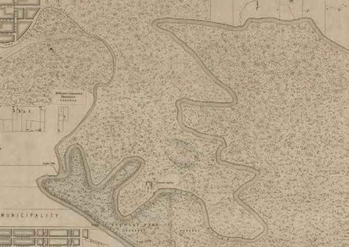 undated - plan showing original location of asylum