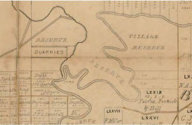 1852 - location of Yarra Bend Park