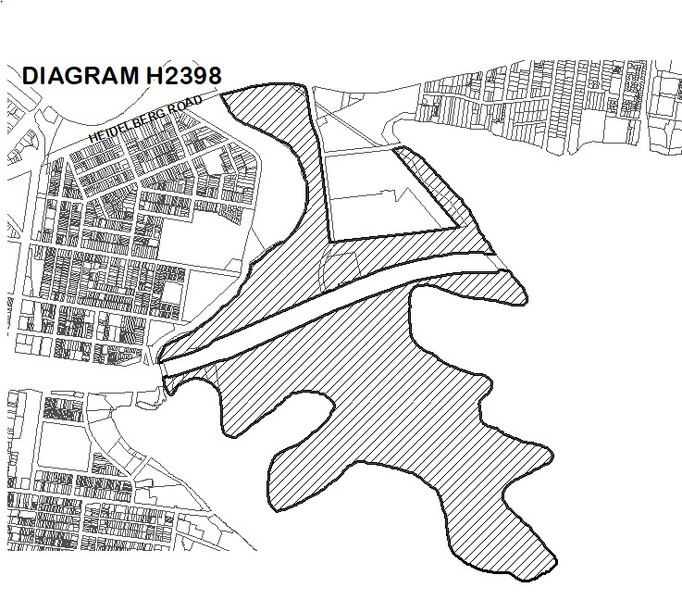 Extent Diagram for Yarra Bend Park (Diagram 2398)