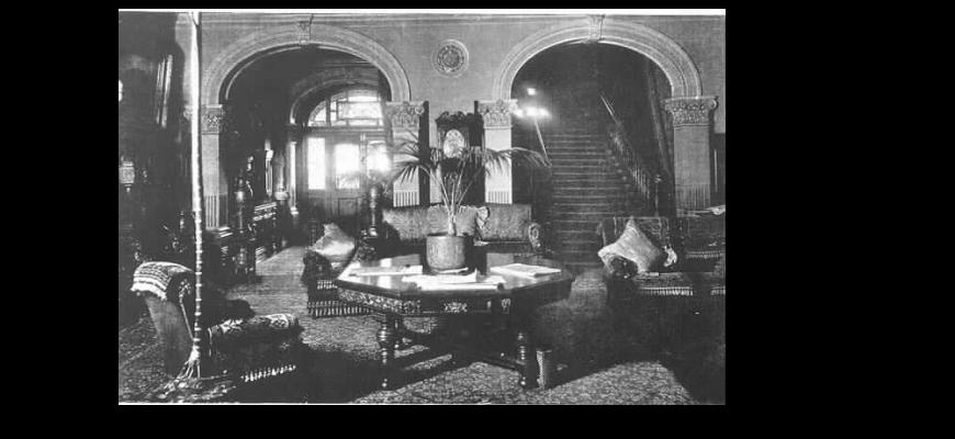 1904 Stonington mansion main hall